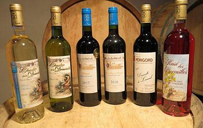 Les vins de pays du Périgord du vignoble du Domaine de la Vitrolle