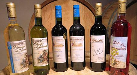Range of Domaine de la Vitrolle Périgord wines