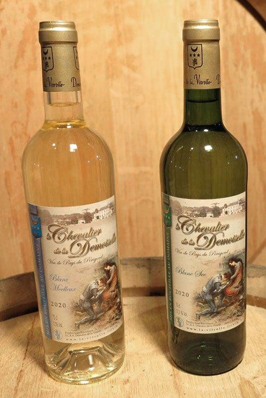 Chevalier de la Demoiselle : vin de pays blanc moelleux et blanc sec du Périgord