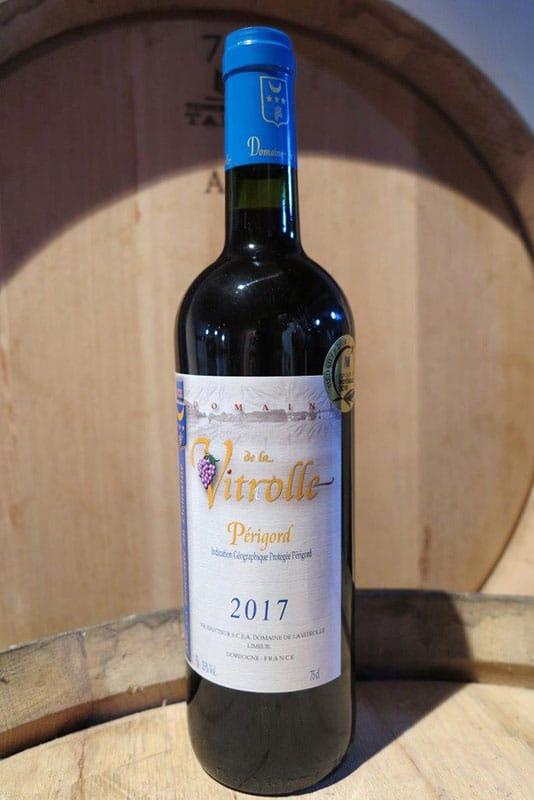 Domaine de la Vitrolle : vin de pays rouge du Périgord